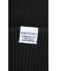 Norse Projects | Black Norse Beanie Hat for Men | Lyst