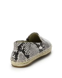 MICHAEL Michael Kors - Natural Snake-Embossed Leather Espadrilles - Lyst