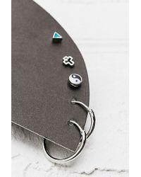 Urban Outfitters - Metallic Mini Hoop and Stud Earrings Pack - Lyst