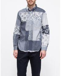Engineered Garments | Blue Mixed Prints Shirt for Men | Lyst