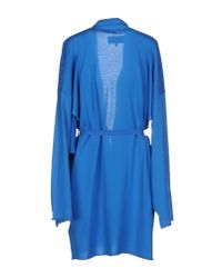 MM6 by Maison Martin Margiela - Blue Cardigan - Lyst