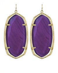 Kendra Scott | Danielle Earrings Purple Agate | Lyst