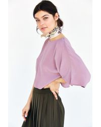 Kimchi Blue | Purple Cape Sleeve Cropped Top | Lyst