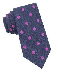Ted Baker | Blue Polka Dot Silk Tie for Men | Lyst