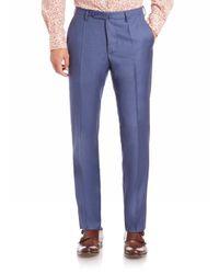 Incotex   Blue Benson Sharkskin Dress Pants for Men   Lyst