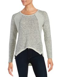 Lord & Taylor | Metallic Knit Sweater | Lyst