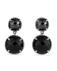 David Yurman | Chatelaine Double-drop Earrings With Black Onyx & Hematine | Lyst