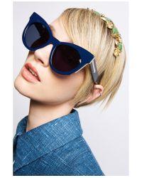 Karen Walker - Blue Starburst Sunglasses - Lyst