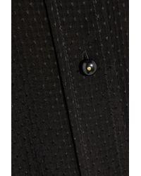 Pedro Del Hierro Madrid - Black Embroidered Georgette Blouse - Lyst