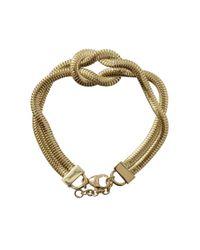 Jemma Wynne | Metallic Revival Love Knot Bracelet | Lyst