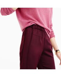 J.Crew | Purple Satin Pull-on Pant | Lyst