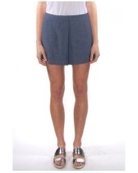 Elle Sasson - Blue Denim Rey Shorts - Lyst