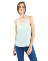 TOPSHOP | Blue Strappy V-Neck Camisole | Lyst