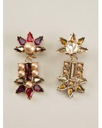 Anton Heunis | Natural Fan Shape Crystal Cluster Drop Earrings | Lyst