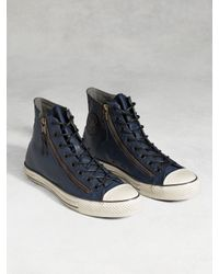 John Varvatos | Blue Chuck Taylor All-star Painted Double Zip High Top for Men | Lyst