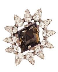 DANNIJO - Black Crystal Neda Ring - Lyst