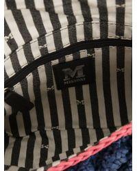 M Missoni - Blue Bouclé Knit Shoulder Bag - Lyst