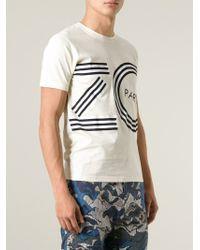 KENZO - Natural Logo Print T-Shirt for Men - Lyst