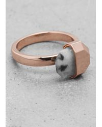 & Other Stories | Pink Stone Ring | Lyst