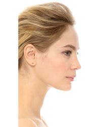 Vita Fede | Metallic Titan Ear Jacket & Stud Set - Gold/clear | Lyst