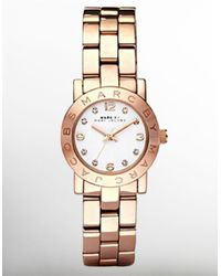 Marc By Marc Jacobs | Metallic Amy Glitz Rose Goldtone Stainless Steel Bracelet Watch | Lyst