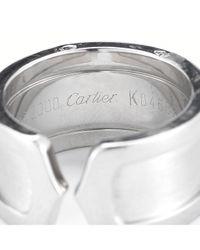 Cartier - Metallic Pre-owned 18kw C De Ring - Lyst