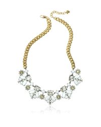 Juicy Couture | Metallic Crystal And Golden Metal Necklace | Lyst