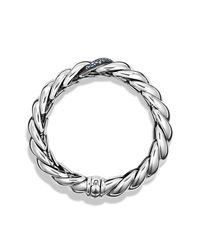 David Yurman - White Hampton Cable Narrow Bracelet With Diamonds - Lyst