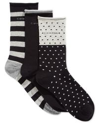 Calvin Klein - Black Kelly Dot & Stripe Socks 3-pack - Lyst