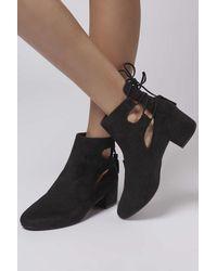 TOPSHOP - Black Kimble Back Ghillie Shoe Boots - Lyst