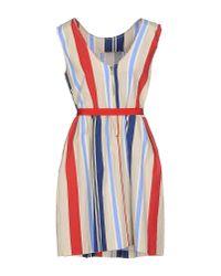 Jucca - Natural Short Dress - Lyst