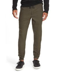VINCE | Green 'traveler' Drawstring Jogger Pants for Men | Lyst