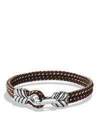 David Yurman | Chevron Two-row Bracelet In Gray | Lyst