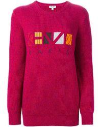KENZO - Pink Paris Sweater - Lyst