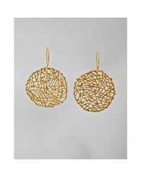 Peyton William Handmade Jewelry | Metallic Gold Vermeil Nest Earrings | Lyst