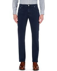 Corneliani | Blue Mid-wash Straight Jeans for Men | Lyst