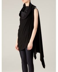 Rick Owens - Black Draped Top - Lyst