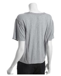 Marc By Marc Jacobs - Blue Heather Grey Cotton 'sparrow' Ruched Top - Lyst