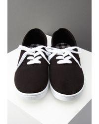 Forever 21 | Black Classic Cotton Plimsolls | Lyst