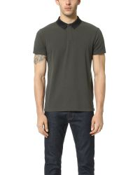 Marc By Marc Jacobs | Black Tech Collar Polo for Men | Lyst
