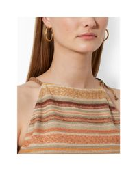 Lauren by Ralph Lauren - Brown Serape-Striped Halter Top - Lyst