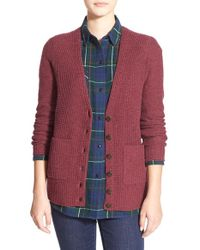 Madewell | Red 'university' Cardigan | Lyst