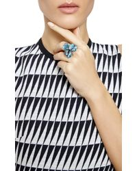 Madina Visconti - Blue The Silver Panze Ring With Enamel - Lyst