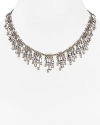"kate spade new york - Metallic Estate Sale Fringe Necklace, 17"" - Lyst"