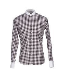 Poggianti - Brown Shirt for Men - Lyst