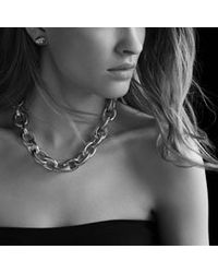 David Yurman | Metallic Oval Ultra Large Link Necklace | Lyst
