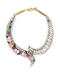 Shourouk | Metallic 'piuma' Necklace | Lyst
