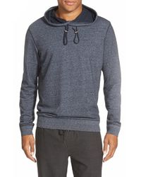 Vince - Blue Trim Fit French Terry Hoodie for Men - Lyst