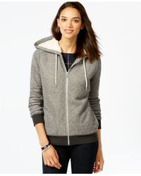 Tommy Hilfiger | Gray Faux-fur-lined Hoodie | Lyst