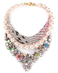 Shourouk - Pink 'bambi River' Necklace - Lyst